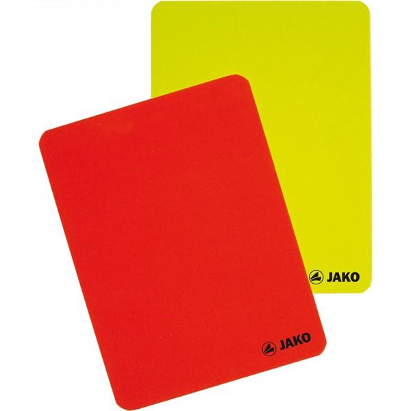 Karten-Set Schiedsrichter rot-gelb